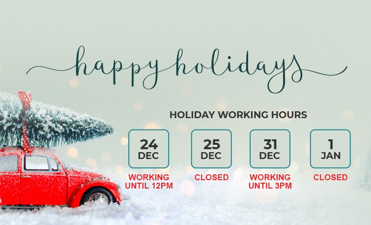 Holiday Work Schedule